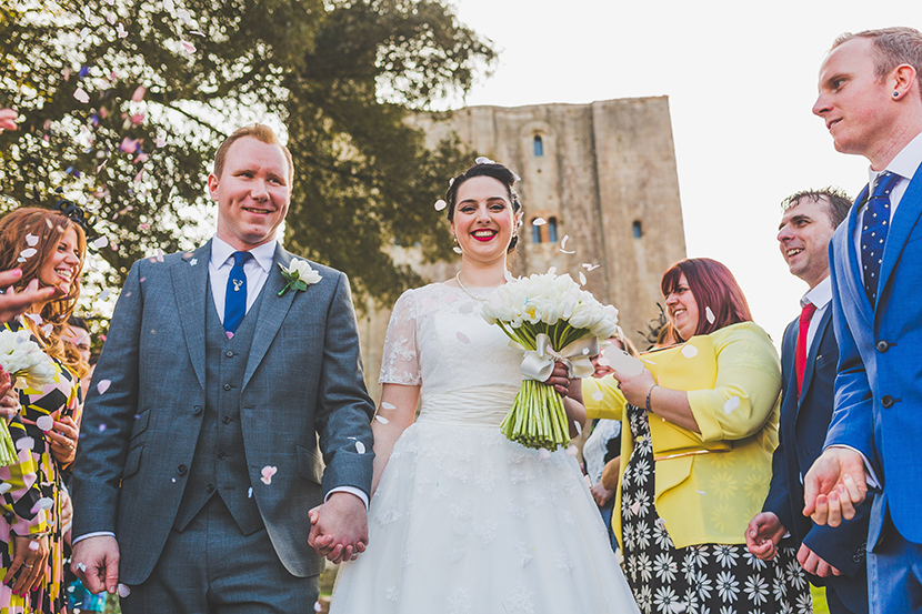 Wedding at hedingham castle