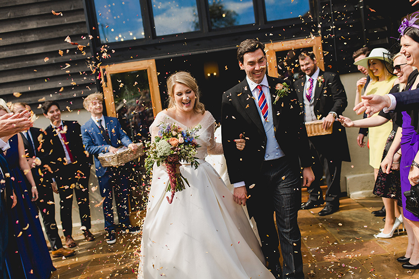 confetti at Bruisyard hall