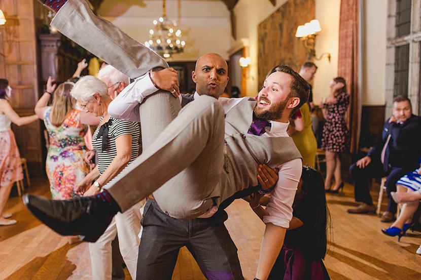 crazy wedding party fun