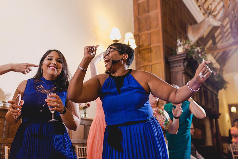 dancing guests at wedding