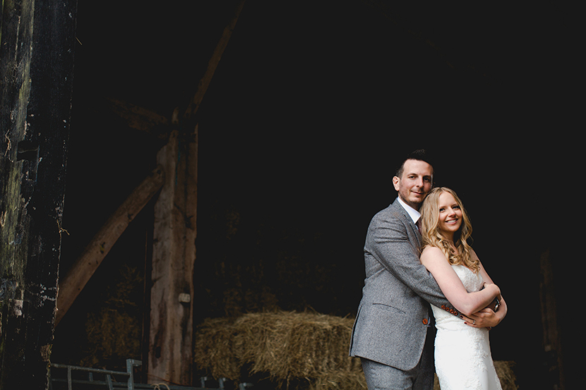 couple in a barn