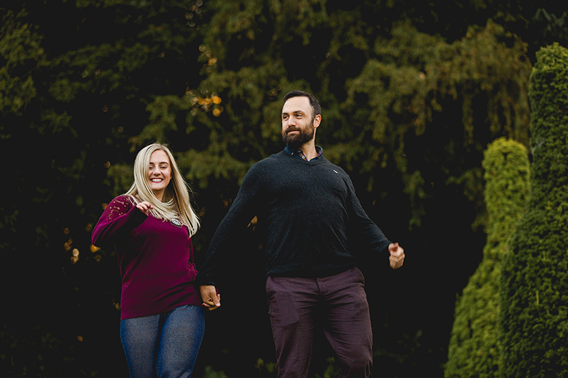 couple dancing as they are walking