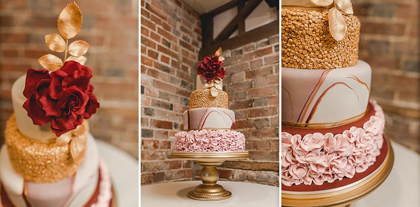 amazing gold wedding cake