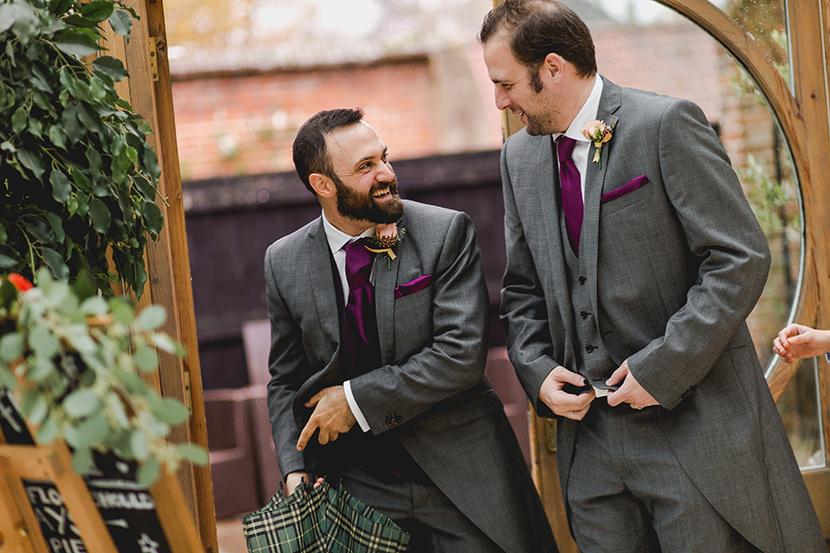 groom looks happy