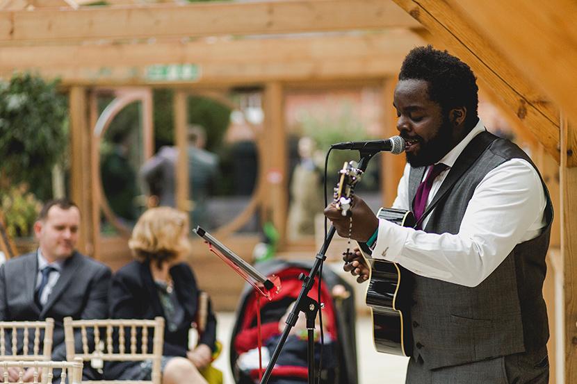 groomsmen sings at wedding