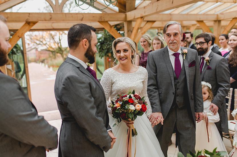 bride enters ceremony