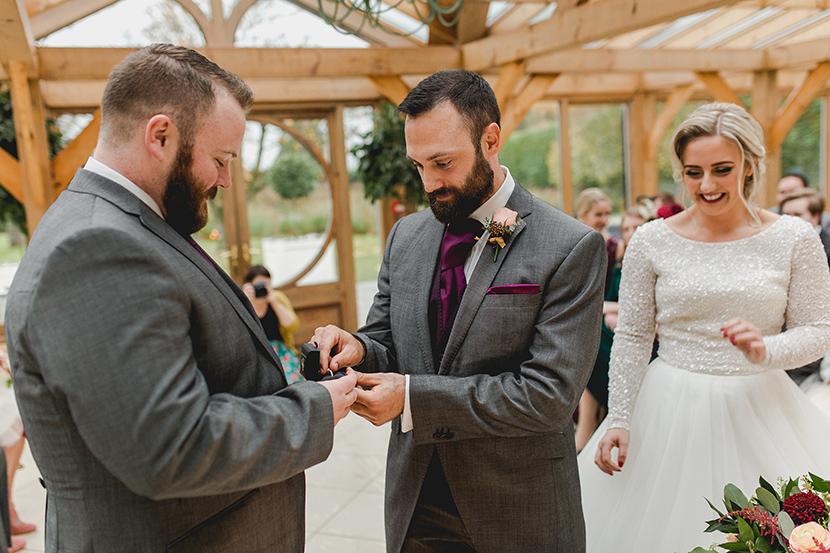 groom gets rings