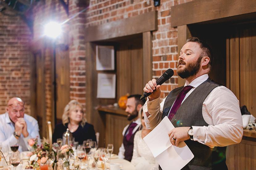 best man makes speech
