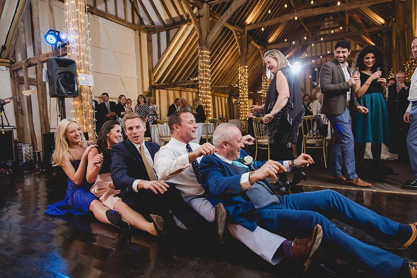 bride and groom at blake hall wedding