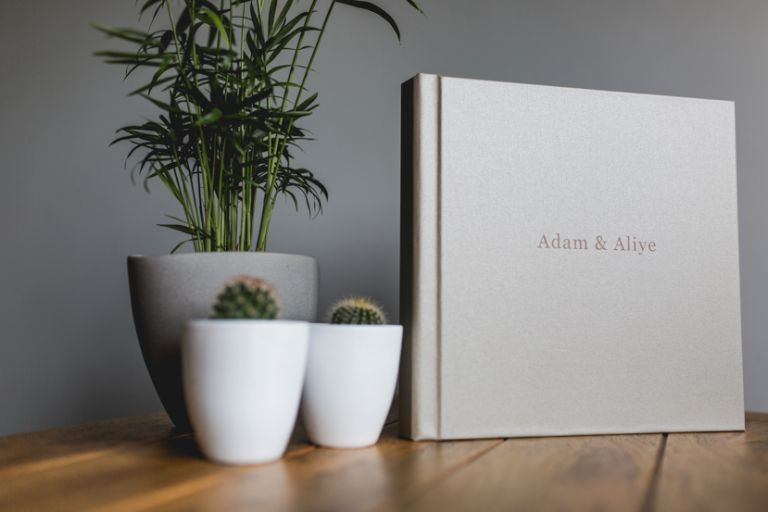 Professional wedding albums by Sam and Louise photography