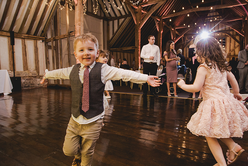 children on wedding dancefloor