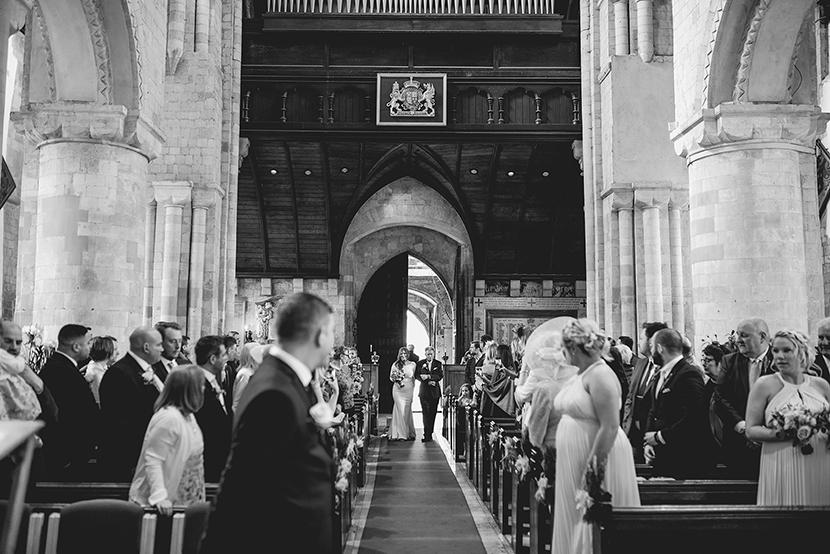 brides entrance at waltham abbey