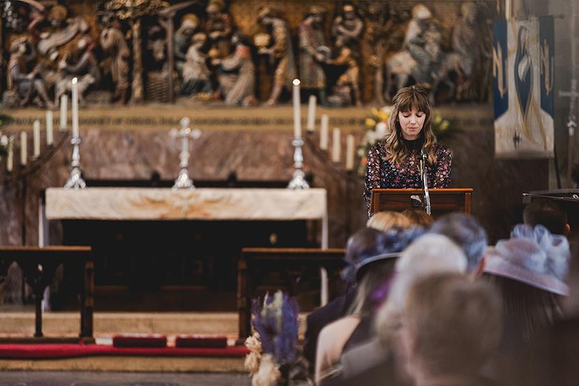 wedding reading at Waltham abbey