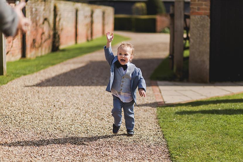 toddler waving