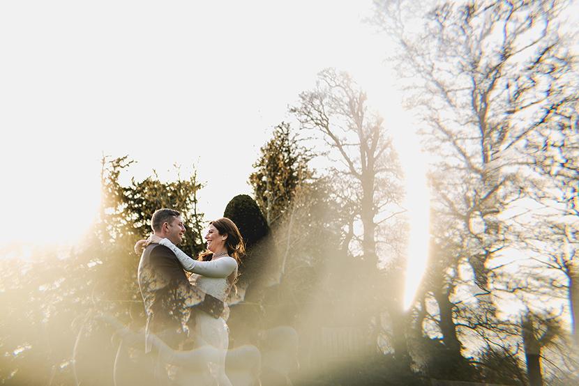 photo of bride and groom at blake hall