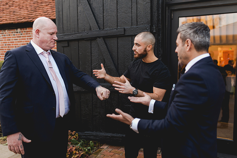 guest surprised by magicians tricks