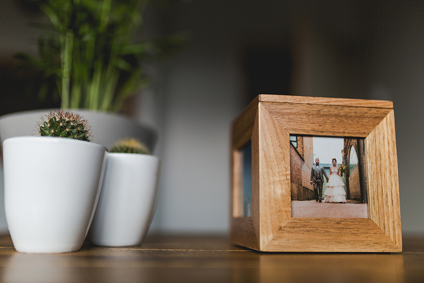 Wedding USB memory box photograph