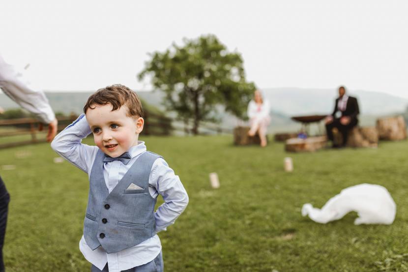 bride and groom at sugar loaf barn in Abergavenny