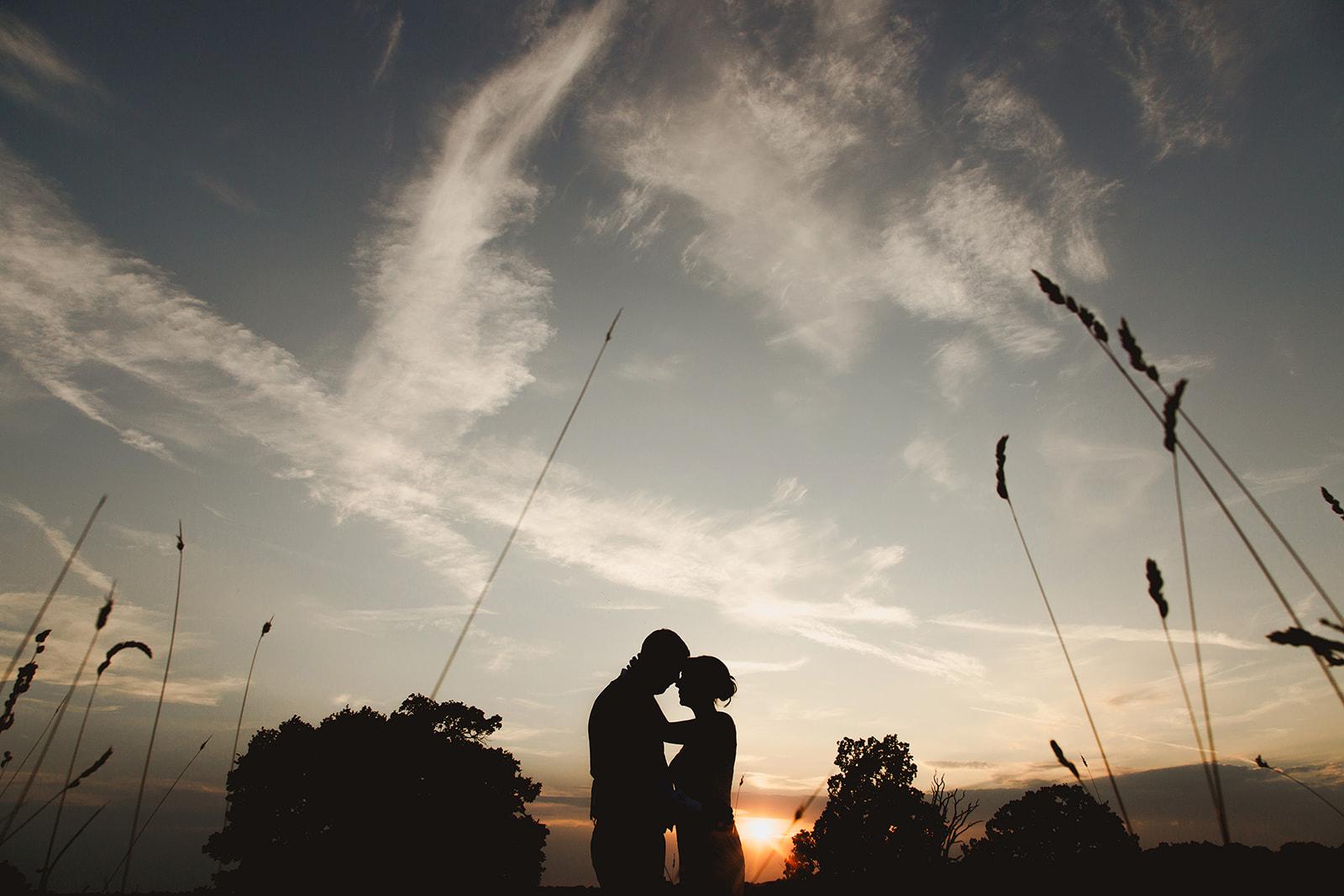 Bride and grooms wedding at Gaynes Park