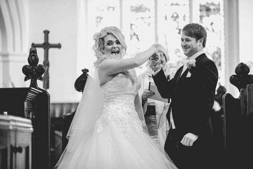 bride and groom at gosfield hall wedding