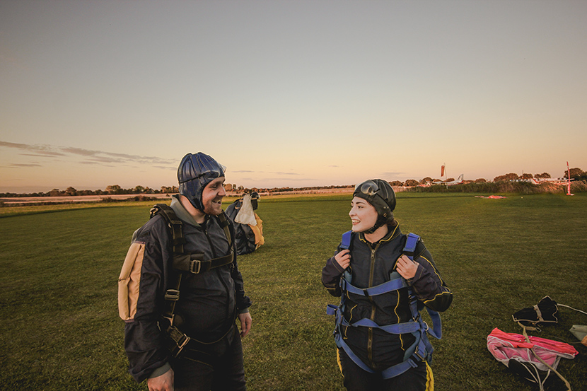 Sam and Louise photography skydiving