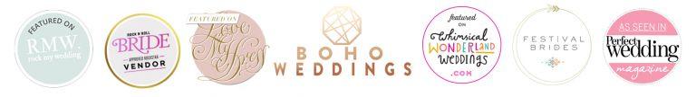 wedding blog features badges